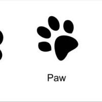 Resin Paw Emblems