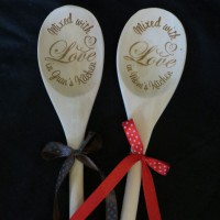 Mixed with Love wooden spoon 2