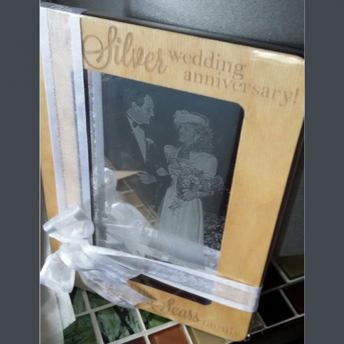 Birch Frame with Laser engraved Photo