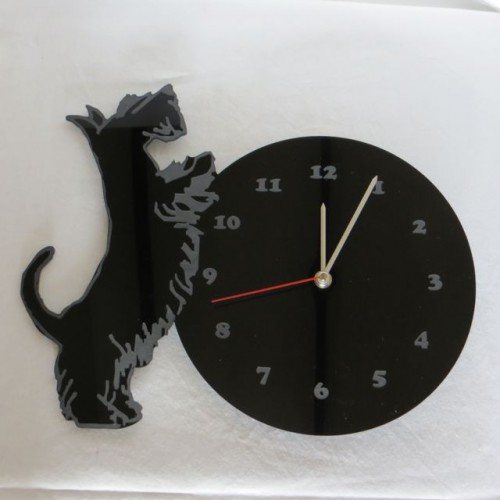 Curious Scottie Clock