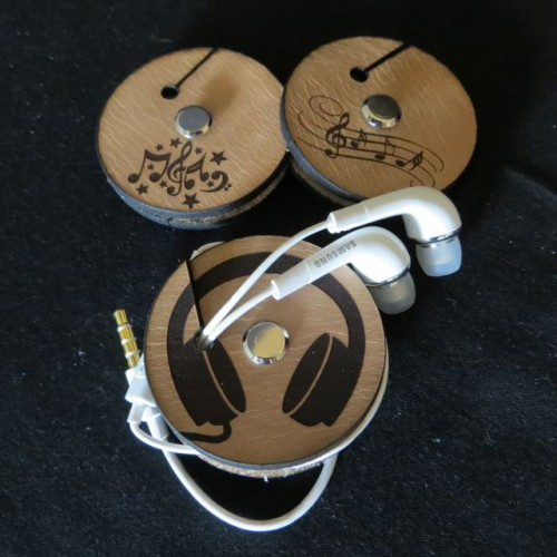 Ear Piece holder 4mm leather