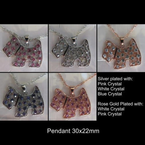 Scottie Crystal Necklaces 1