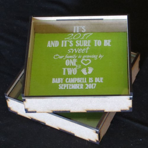 Baby Announcement box