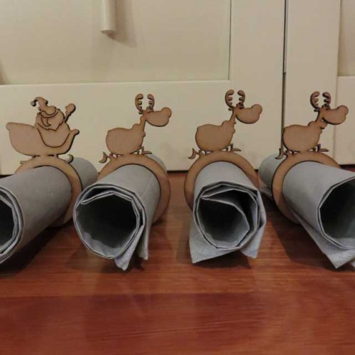 Sleigh Ride Napkin rings