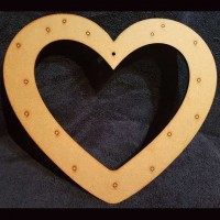 Heart Button Wreath Blank