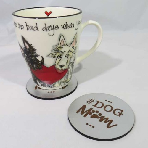 Dog mom coaster 1