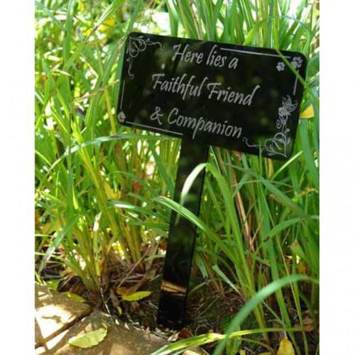 Here Lies Garden Marker