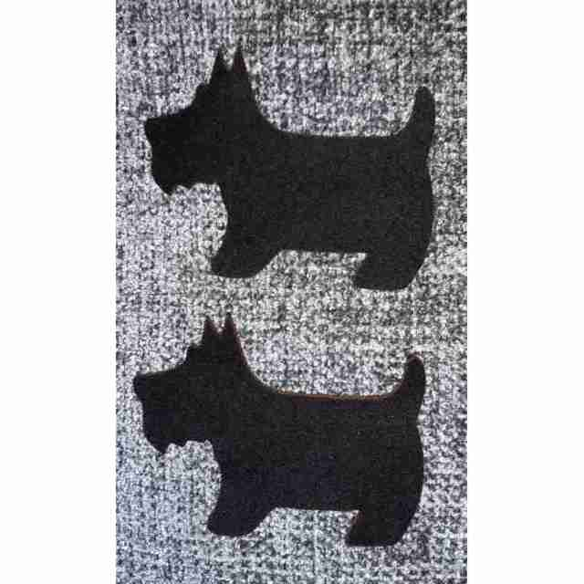 Large Felt Scotties