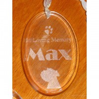 Oval Crystal Decoration