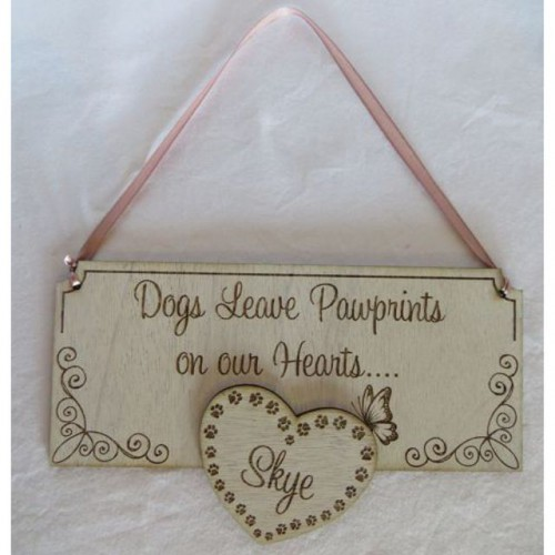 Paw Prints Sign