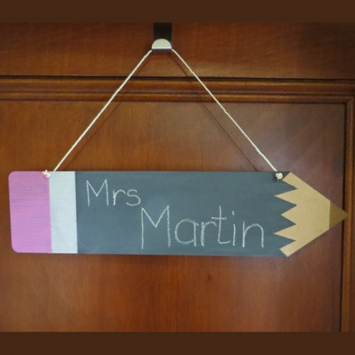 Pencil Chalk Board Sign