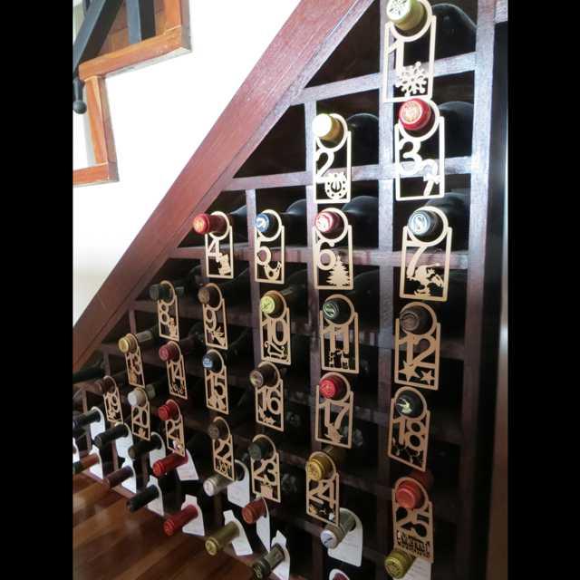 Advent Calendar Homemade : Wine advent calendar terrier firma
