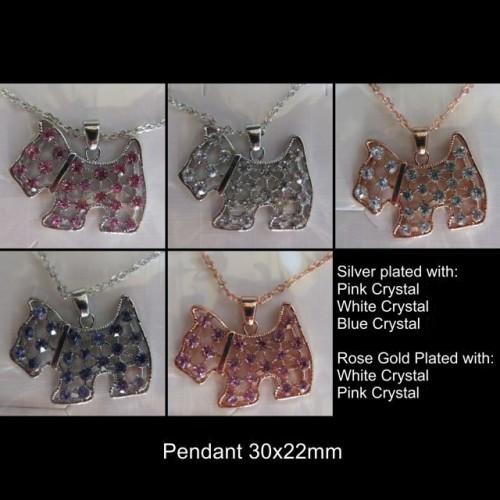Scottie Crystal Necklaces 1