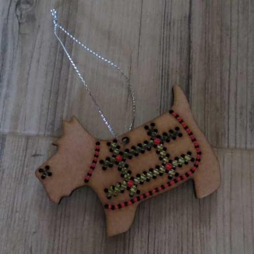 Scottie Xstitch Decoration