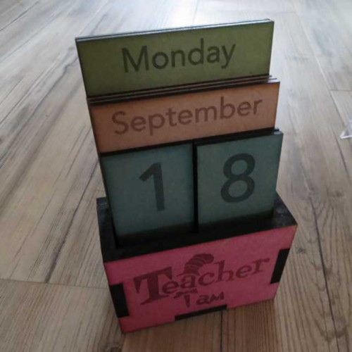 Teacher I Am Perpetual Calendar