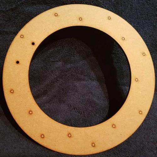 Round Button Wreath Blank
